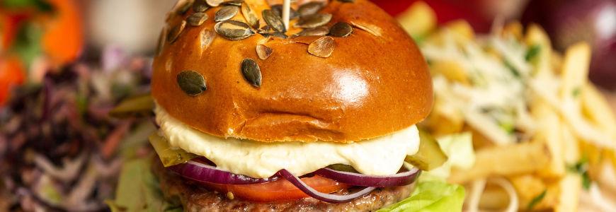 Burger beef & pork